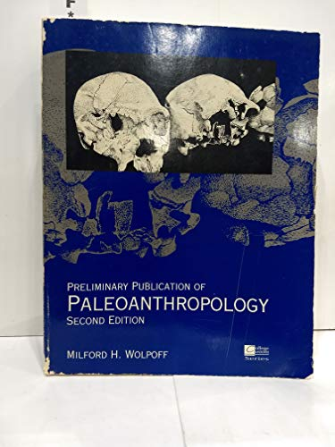 9780070716797: Preliminary publication of paleoanthropology