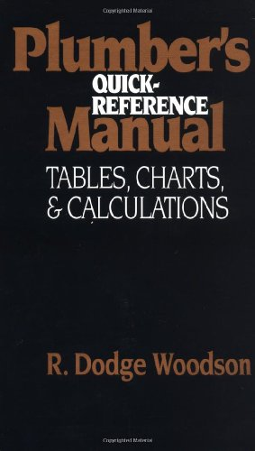9780070717992: Plumber's Quick-Reference Manual: Tables, Charts, and Calculations