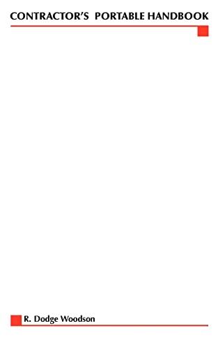 Contractors Portable Handbook: R. Dodge Woodson