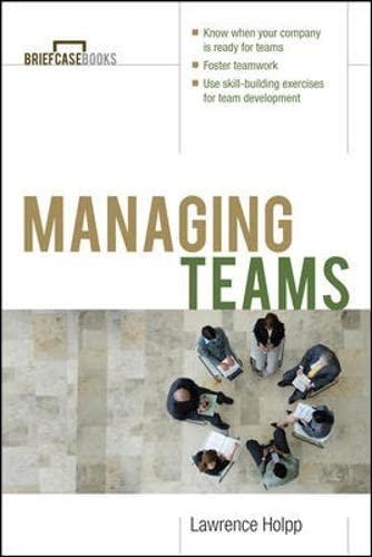 9780070718654: Managing Teams