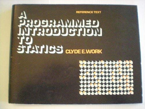 9780070718753: Programmed Introduction to Statics