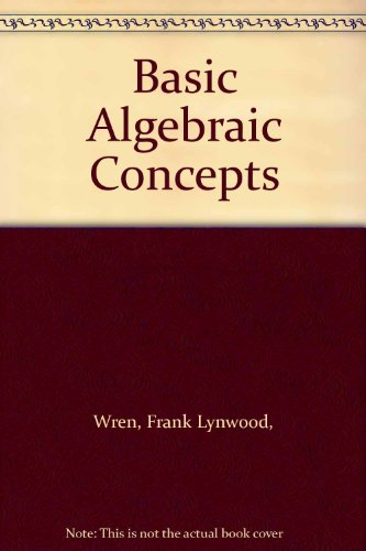 9780070719088: Basic Algebraic Concepts