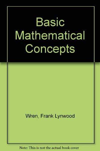 9780070719101: Basic Mathematical Concepts