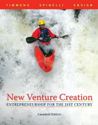 9780070719958: New Venture Creation, CDN Edition