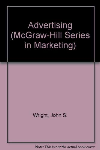 9780070720695: Advertising (Mcgraw Hill Series in Marketing)