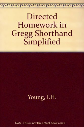 9780070723351: Directed Homework in Gregg Shorthand Simplified