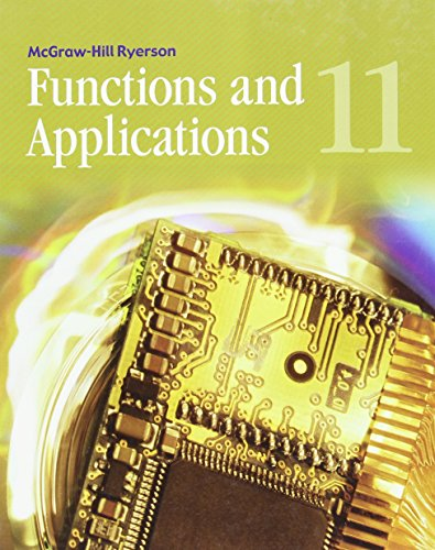9780070725966: Functions and Applications 11 Student Edition