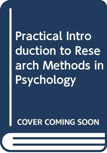 9780070727038: Practical Introduction to Research Methods in Psychology