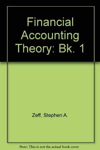 9780070727786: Financial Accounting Theory: Bk. 1