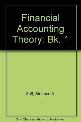 9780070727786: Financial Accounting Theory: Bk. 1