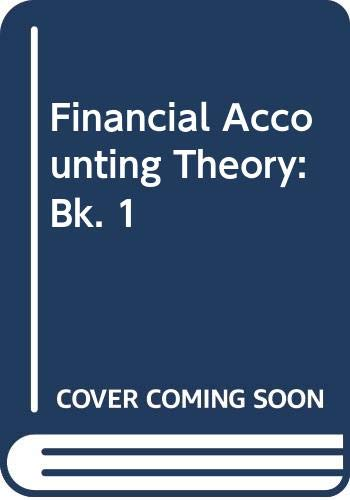 9780070727793: Financial Accounting Theory: Bk. 1 (McGraw-Hill accounting series)