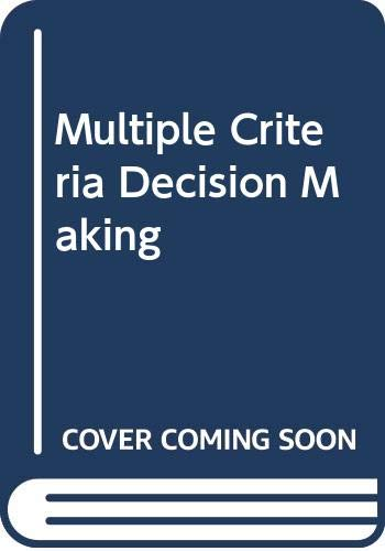 9780070727953: Multiple Criteria Decision Making