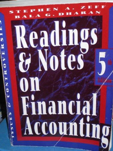 9780070730069: Readings And Notes On Financial Accounting: Issues and Controversies