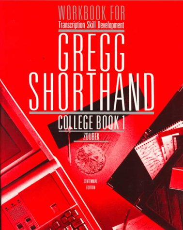 9780070736627: Workbook for Transcription Skill Development Gregg Shorthand College Book 1