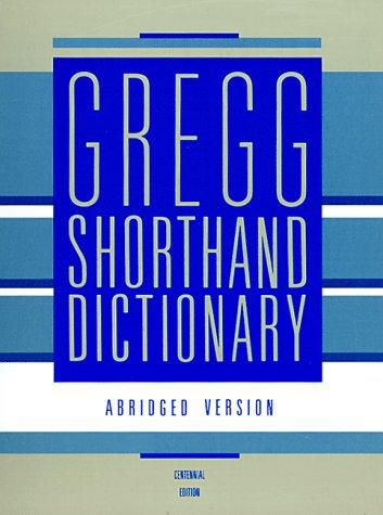 9780070736825: Gregg Shorthand Dictionary