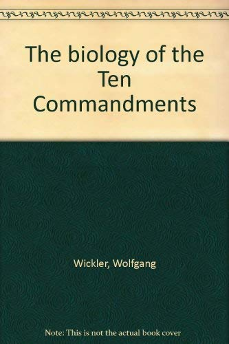 9780070737587: The biology of the Ten Commandments