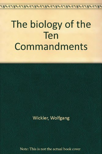 9780070737587: The biology of the Ten Commandments