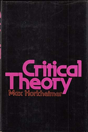9780070737792: Critical Theory: Selected Essays
