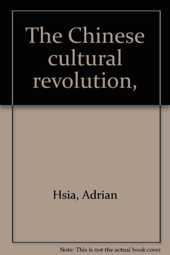 9780070737808: The Chinese cultural revolution,