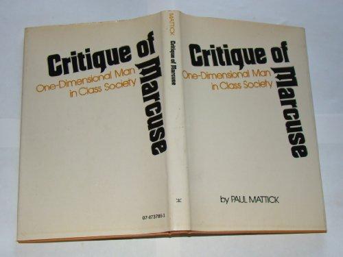 9780070737853: Critique of Marcuse