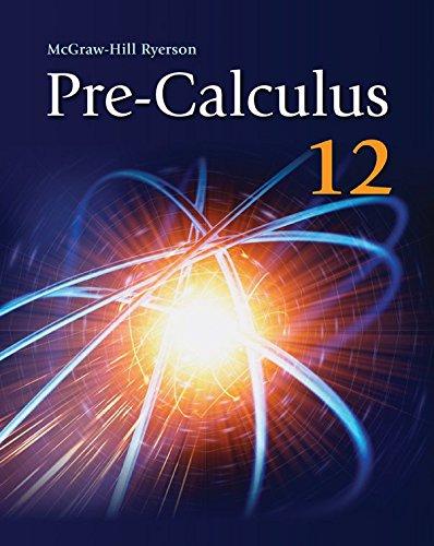 9780070738720: Pre-calculus 12
