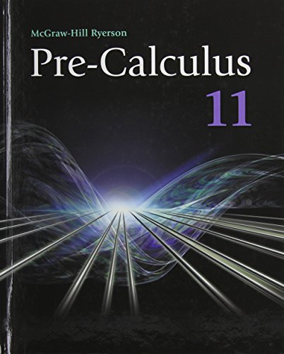 9780070738737: Pre-calculus 11 Student Text (McGraw Hill)