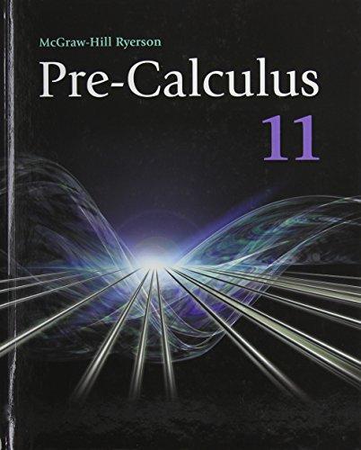 9780070738737: Precalculus 11 Student Edition