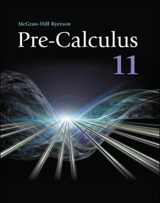 9780070738829: Precalculus 11 Student Workbook