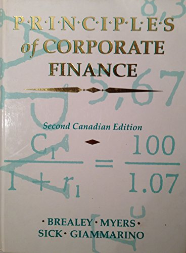 Principles of Corporate Finance - Second Canadian: Richard Brealey
