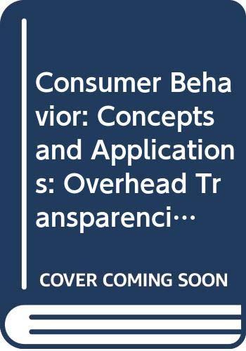 9780070744844: Consumer Behavior: Concepts and Applications: Overhead Transparencies