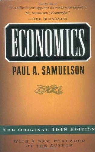 9780070747418: Economics: The Original 1948 Edition