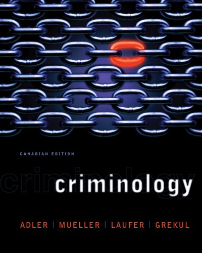 9780070764088: Criminology, CDN Edition