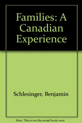 9780070773424: Families;: A Canadian perspective