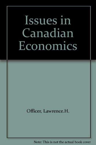 9780070774476: Issues in Canadian Economics