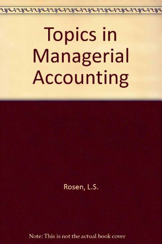 9780070776906: Topics in Managerial Accounting