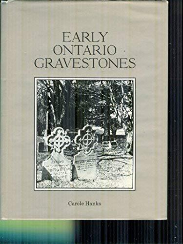 9780070777651: Early Ontario gravestones