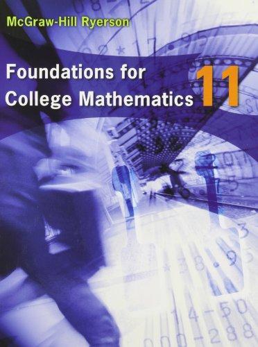 9780070780842: Foundations for College Mathematics 11