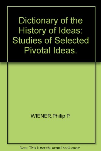 9780070794740: Dictionary of the History of Ideas