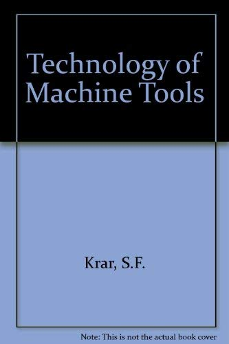 9780070824379: Technology of machine tools