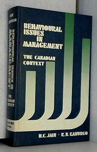 9780070824553: Behavioural issues in management: The Canadian context