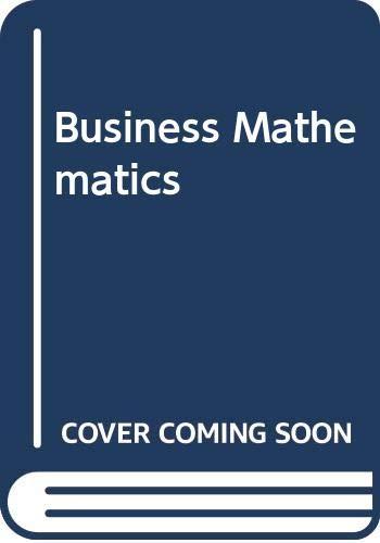 9780070825994: Business Mathematics