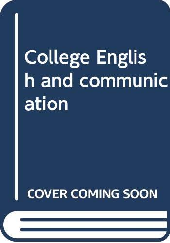 9780070827127: College English and communication
