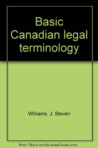 Basic Canadian Legal Terminology