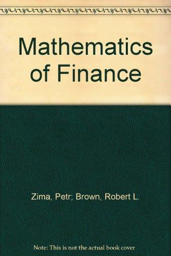 Mathematics of Finance: Petr; Brown, Robert