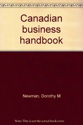 9780070829640: Canadian business handbook