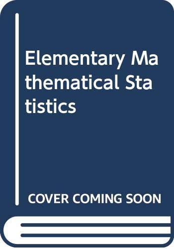 9780070840010: Elementary Mathematical Statistics