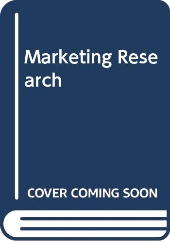 9780070840102: Marketing research; analysis and measurement