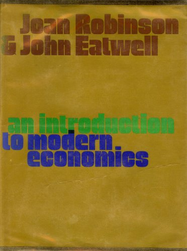 9780070840249: Introduction to Modern Economics