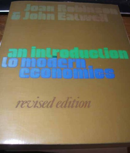 9780070840256: Introduction to Modern Economics