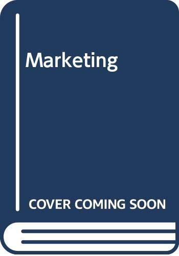 9780070840539: Marketing: A Behavioural Analysis